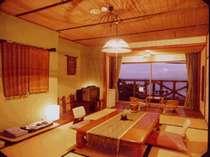 天気がよければ、大島まで見渡せる、全室オーシャンビューの客室