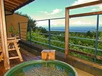 伊豆の醍醐味!大室山中腹の高台から海と伊豆七島を望む絶景!全室に効能豊かな温泉が愉しめる露天風呂付
