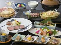 旬の食材を使った料理長おすすめの創作会席「山の宴」