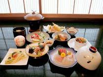 ■お料理一例■山・川・里の四季折々の食材を使用した会席料理をご堪能下さい。