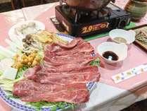 *【お料理】夕食一例~地元産の美味しいお肉☆