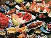 清進丸が獲った海の幸を使った夕食2名分