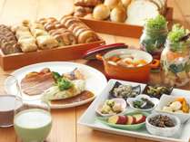 【朝食】心と体を満たす、癒しのビュッフェレストランで朝食を。