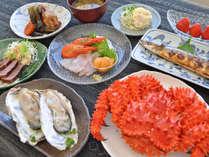 【夕食一例】花咲ガニ1人1杯♪浜中の旬鮮をお楽しみください。