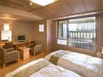 [遥々の階] 露天風呂付洋室38平米(1)和ベッドは低反発仕様