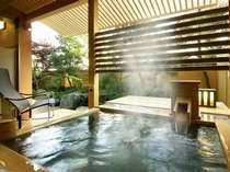 [別邸美悠]客室露天風呂一例