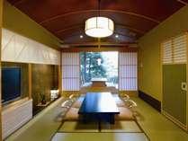 別邸美悠客室内和室エリアイメージ 和の温もりの中ごゆっくりお寛ぎ下さい。