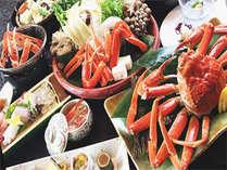 蟹づくし会席(イメージ) 画像の鍋の食材は2人盛り