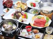 『くろしお会席』伊勢海老・あわび・熊野牛など豪華食材を使ったプランです。(お造りは2人盛です)