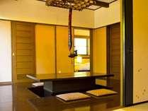 ≪囲炉裏の間≫和室に寝室はベットで快眠。お部屋の間取りが一番広い!