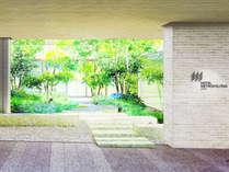 エントランスから見える中庭 イメージ