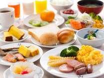 朝食は和洋バイキングまたはセットメニュー
