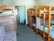『プロ野球キャンプ見学』二段ベッド部屋を個室利用