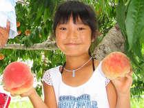 【もも狩り】1泊2食付★夏本番!提携農園で楽しむジューシーな桃食べ放題プラン