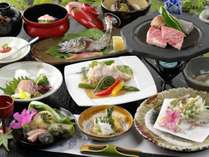 【夕食一例】「田舎のごちそう」をたっぷりと。旬の素材を丁寧にお料理いたします。