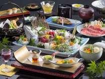 【伊豆の恵み 和会席】伊豆ならではの地魚料理、黒毛和牛、金目鯛をあしらった和会席