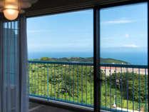 高層階オーシャンビュー和洋室65平米(和・6畳)定員5名:最上階8階限定、窓からの眺め◎