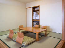 高層階オーシャンビュー和洋室65平米(和・6畳)定員5名:和室にお布団で2名まで可