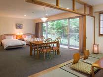 リーズナブル山側和洋室65平米(和・6畳)定員4名:1室のみ眺望のないお部屋です。