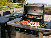 テラスBBQ付オーシャンビュー和洋室65平米(和室6畳)定員5名:BBQの調理はテラスでお願いしております。