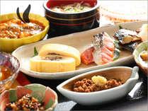 【朝食】旬の食材を使用した和惣菜。仙台市内ナンバーワン評価!