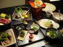 季節の食材・信州和牛等を使った創作料理の一例