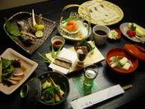 信州の食材を使った創作料理の一例