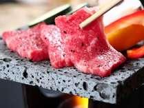 グレードアップ-楽-・信州牛の溶岩焼き
