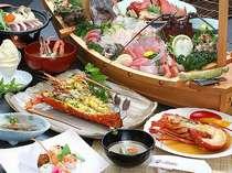 《美食》お魚と調理方チョイスで伊勢エビ・あわび・地魚のグレードアップメニューのグルメプラン