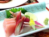 【ご夕食1例】鮮魚の三種盛り
