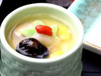 【ご夕食1例】フカヒレ餡かけ茶碗蒸し