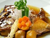島原郷土料理鯛のかぶと煮1例
