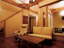 【川の音】和室6畳+ツインベッドルーム+露天風呂付離れ(禁煙室)