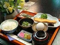 ヘルシーで体に優しい和朝食です。メニューは毎日かわります。