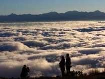 雲海と秋の風景
