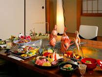 【松柏亭】囲炉裏焼会席。大切な人とのご夕食に是非ご選択下さい。(イメージ)