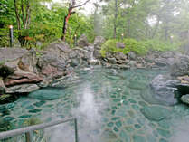 大自然の中で、露天風呂に浸かりながらゆっくりとながれる時間を・・・。