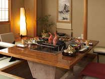 【松柏亭】季節の食材をそのまま生かした贅沢な夕食を・・・。