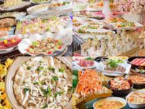 【夕食バイキング】ライブキッチンで豊富な品揃え!(イメージ)