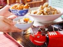 会津伝統のソースかつ丼がディナーバイキング会場で作れます。(イメージ)
