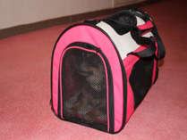 【ペットルーム36平米】愛犬のお部屋までのご移動はキャリーバックでお願いします。