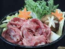 福島牛のすき焼き。プランにプラスワンのお楽しみセレクトメニュー(イメージ)