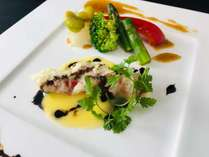【こだわりの一品料理付:金目鯛のフリット】~メイン料理が選べるディナーバイキングプラン~