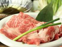 夕食(飛騨牛会席) ~A5等級 飛騨牛しゃぶしゃぶ~(秋料理)