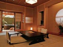 *<和邸 山王院「桜」>ゆったりと余裕のある和室に専用露天風呂がついたお部屋です。