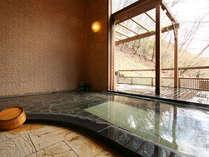 *女湯「山女魚の湯」女性風呂&貸切露天風呂です。4つのブレンド温泉をご堪能ください。