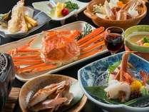 【蟹づくし】かに料理5品付(料理写真はイメージ)お膳の上は「カニ」でいっぱい♪