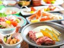 <2015年>お部屋食一例/旬の彩り野菜を使った陶板焼き