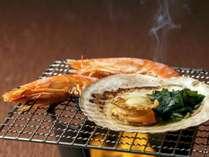 【秋の味覚焼き三昧】海老・帆立の網焼き