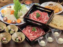 【大浴場工事(1/7~2/14)割引】ボリューム満点の柔らかな牛肉とシャキシャキ新鮮野菜のしゃぶしゃぶ鍋